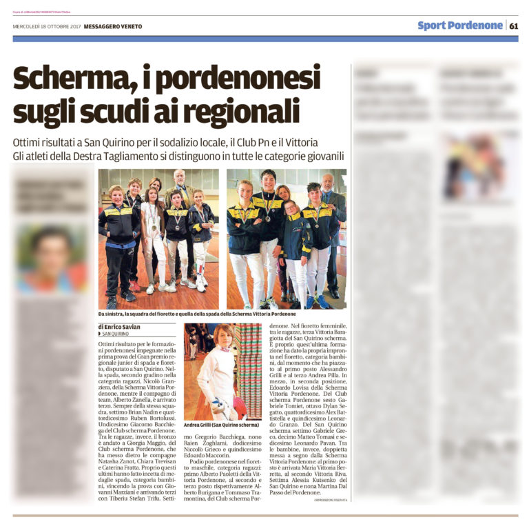 Messaggero Veneto 18/10/2017