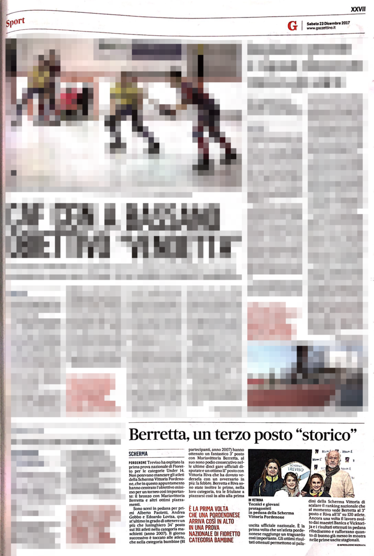 Il Gazzettino 23/12/2017