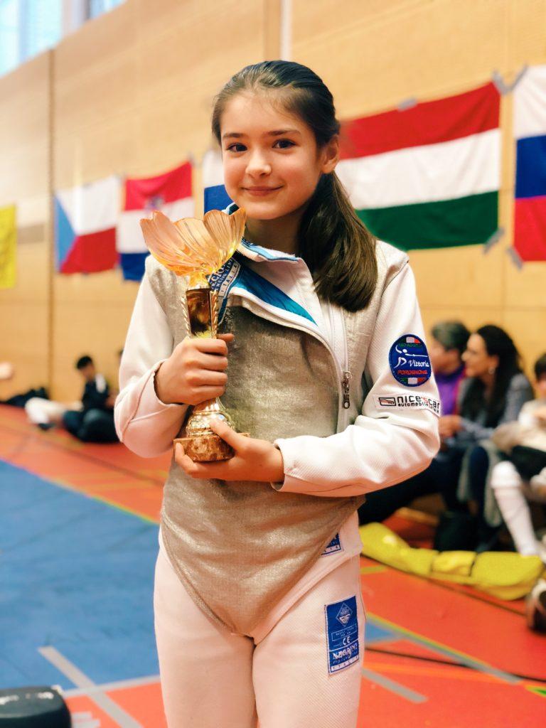 Vittoria Riva della Vittoria Scherma Pordenone conquista la Welsbach Cup 2018, competizione internazionale tenuta in Austria.