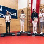 Vittoria Riva della Vittoria Scherma Pordenone sul podio della Welsbach Cup 2018, competizione internazionale tenuta in Austria.